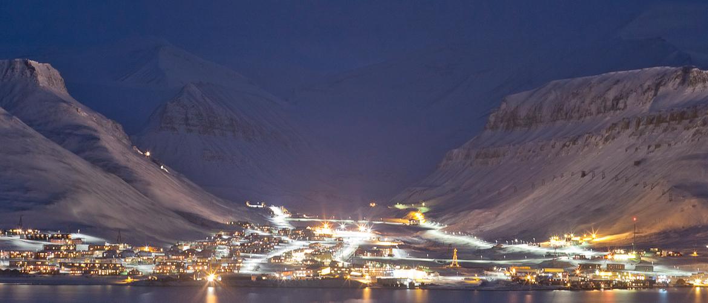 Polarnatt i Longyearbyen, Svalbard