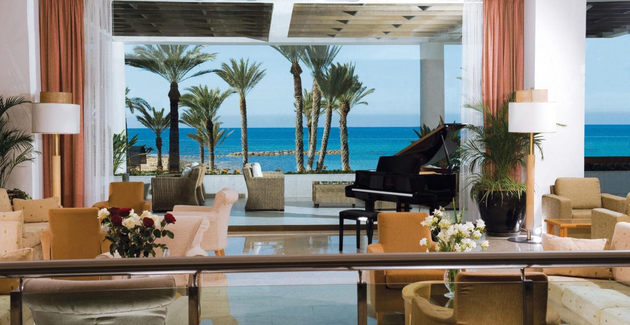 Pioneer beach hotel-lobby, Pafos, Kypros