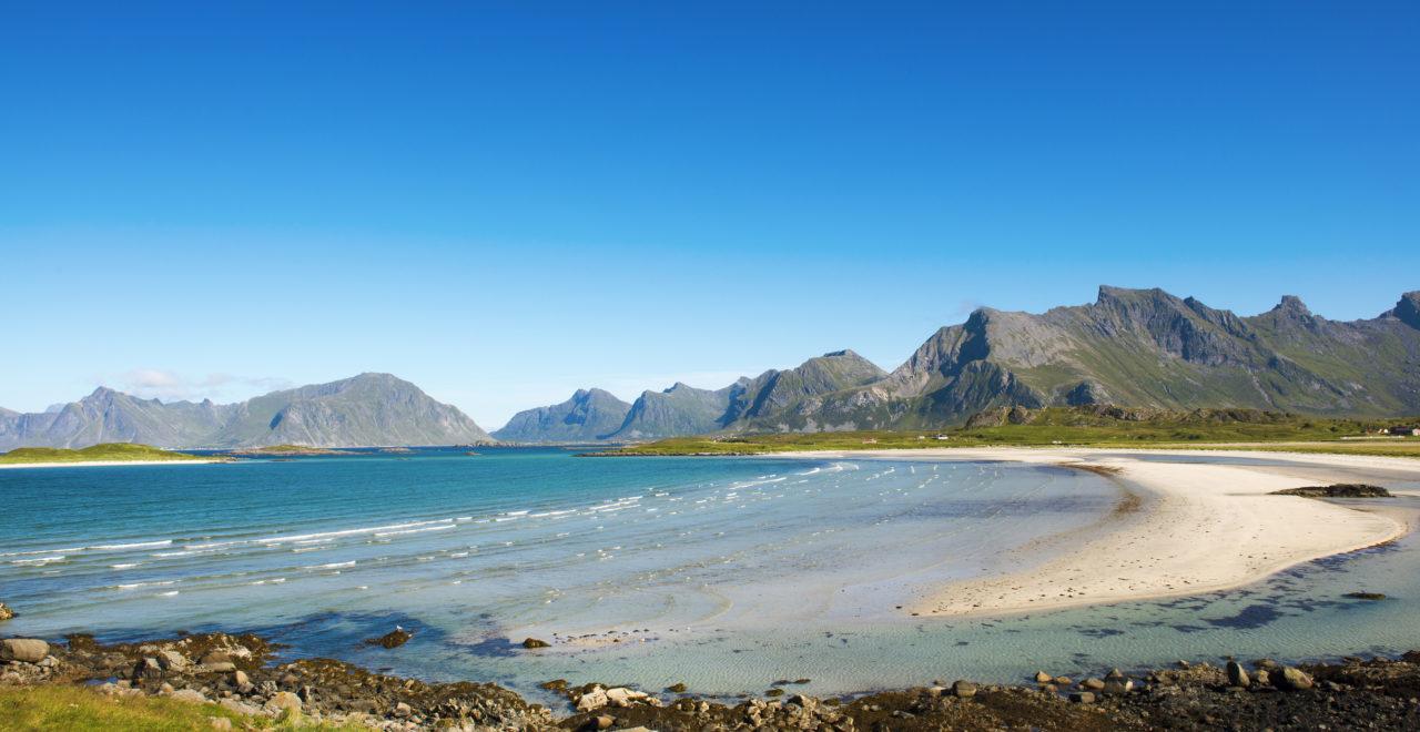 Norge Lofoten Moskenesøya Fredvang strand