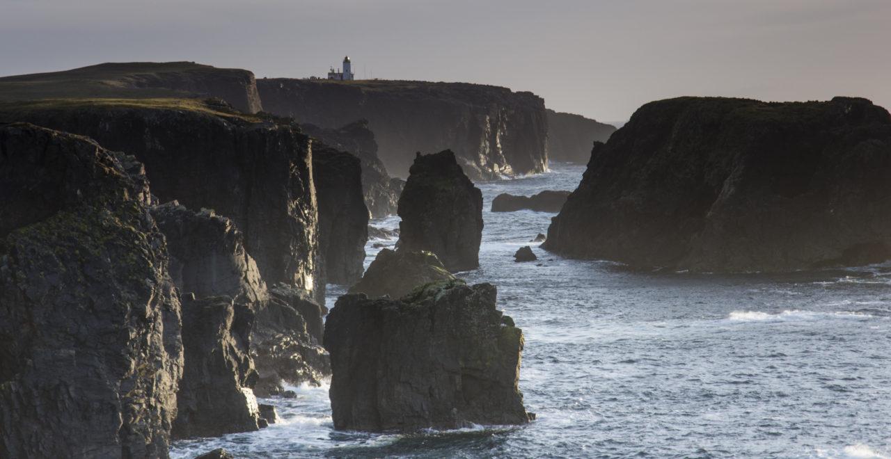 Moo stack at Eshaness Shetland Skottland