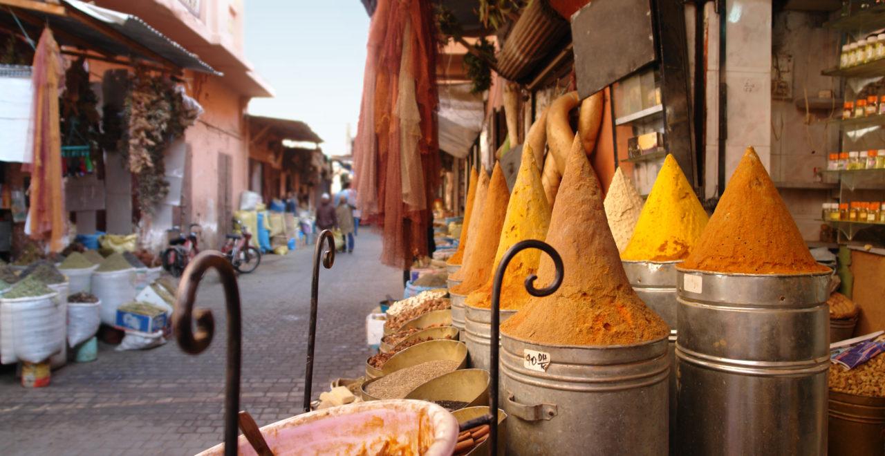 Marrakech Marokko marked krydder