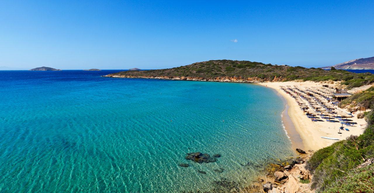 Chrisi Ammos, strand, Andros, Kykladene, Hellas