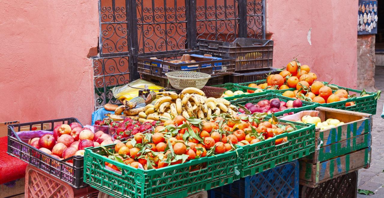 Marrakech marked mat Marokko