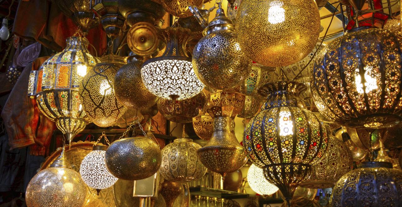Marokko marked lamper