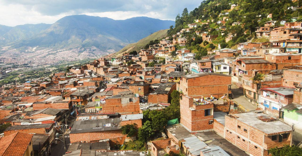 Slummen i Medellin, Colombia