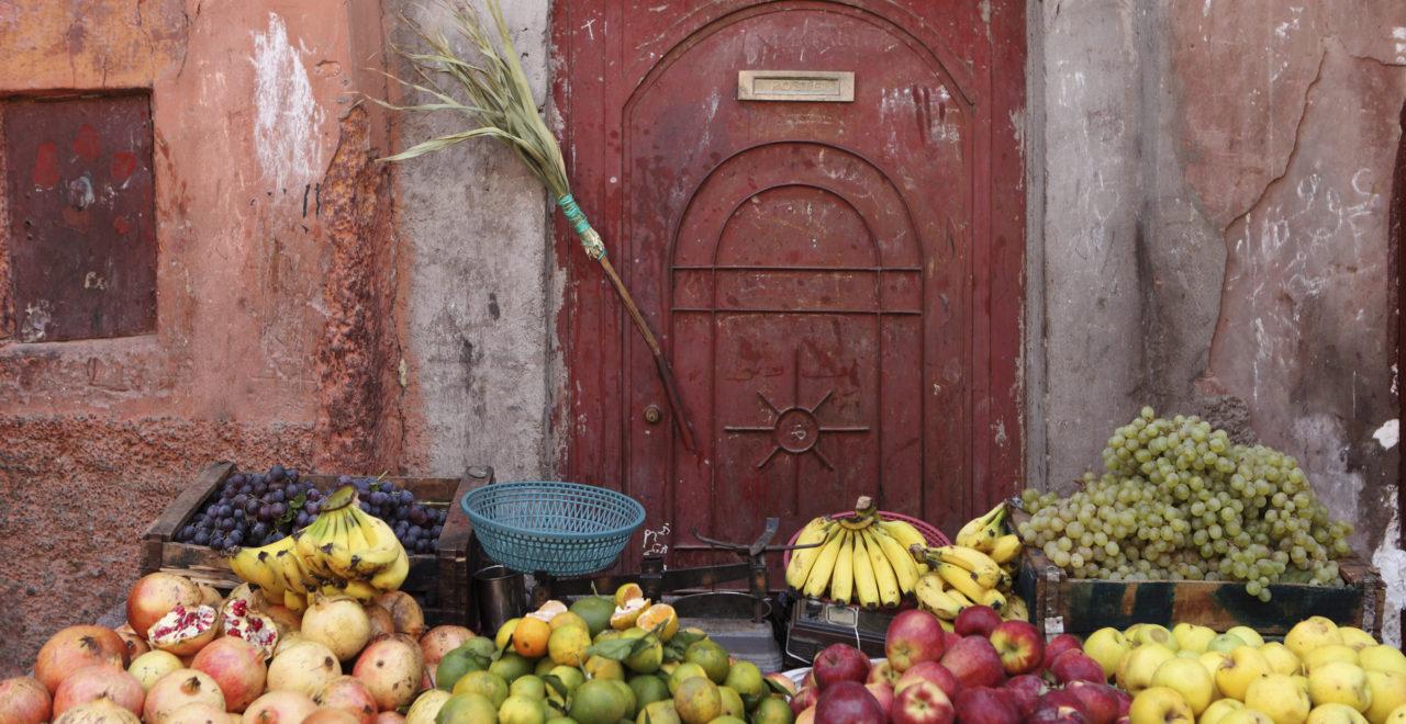 frukt mat marrakech marokko marked
