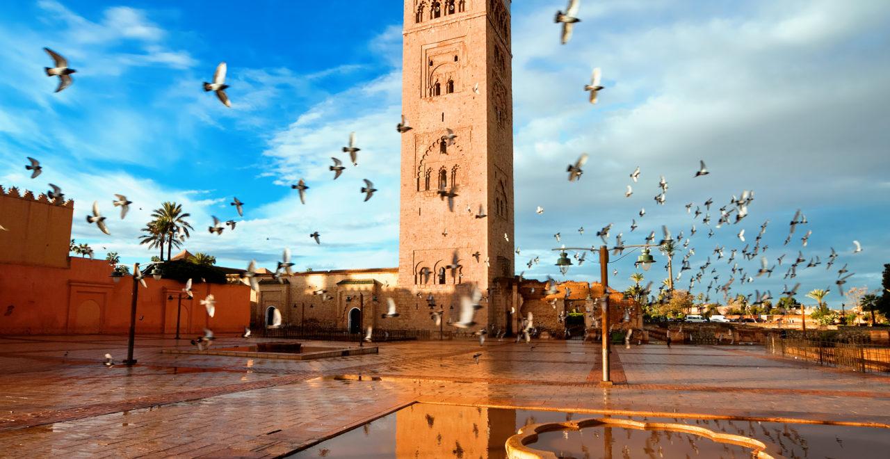 Koutoubia moské, Marrakech, Marokko
