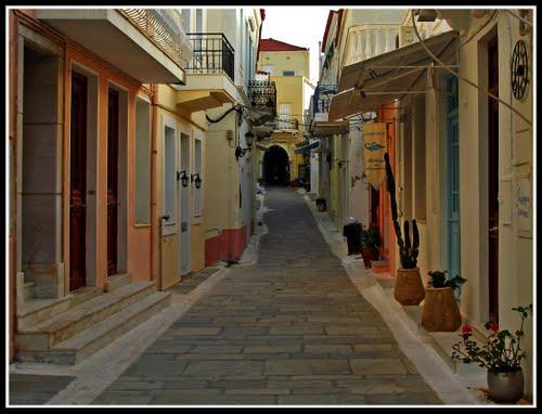 Gamlebyen Chora Andros Kykladene Hellas