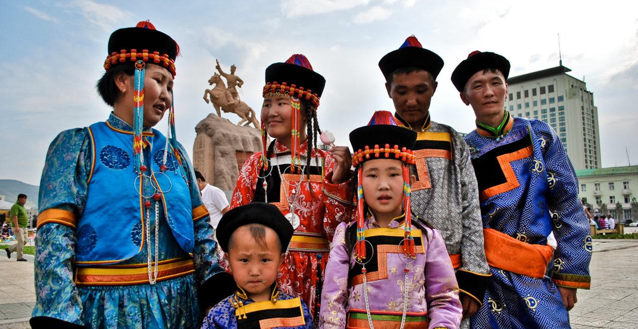 Buryat familei Bajkal Irkutsk Russland