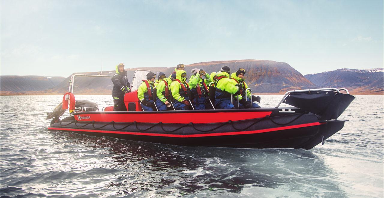 Fuglefjella båt rib Svalbard