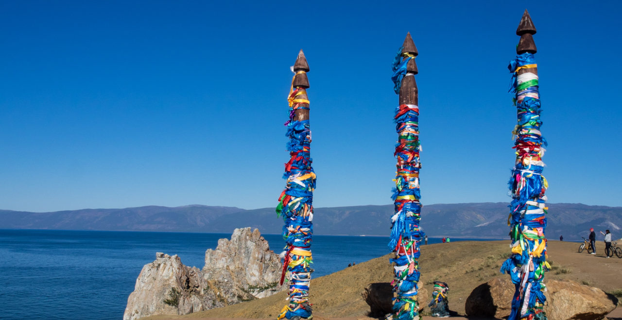 Shaman 's Rock - Olkhon island - Bajkalsjøen - Russland