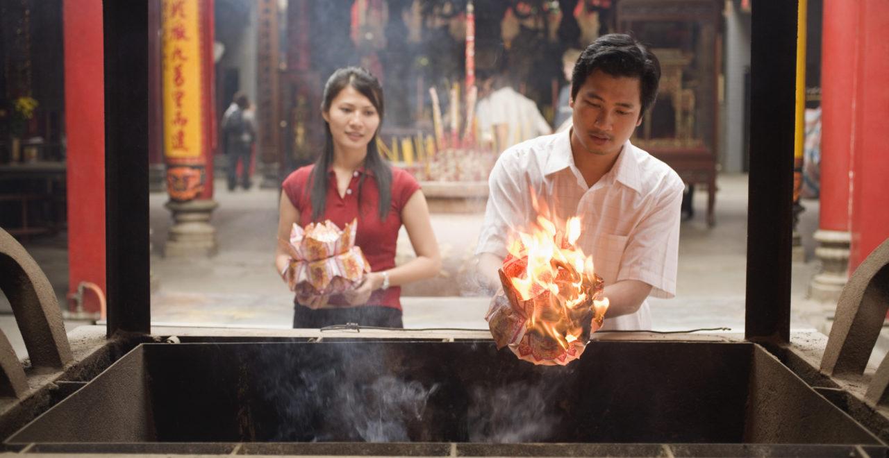 Vietnam, tempel, ofring