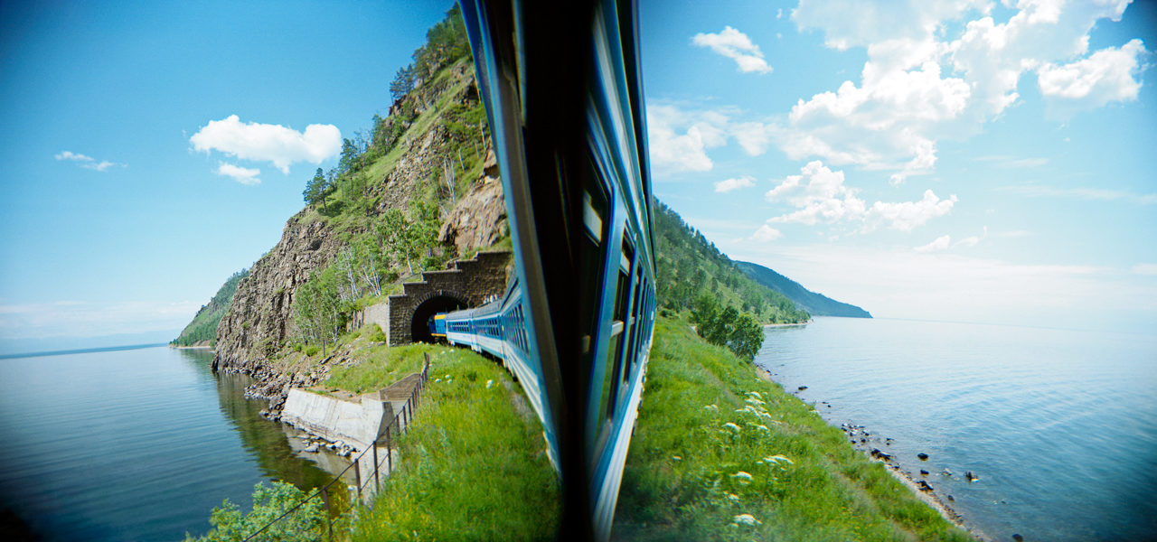 tog Bajkal Russland jernbane
