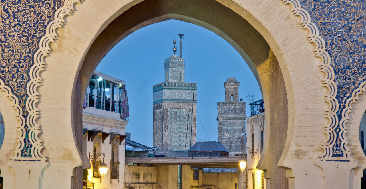 Bab Bou Jeloud gate, Fes, Marokko