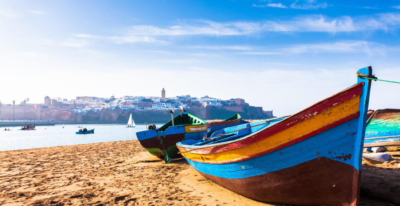 Rabat, strand, Marokko