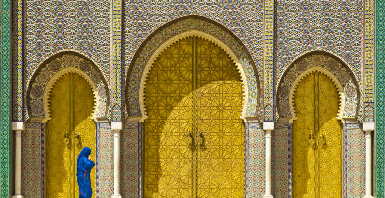 Marokko, golden door, Fes, Royal palace,
