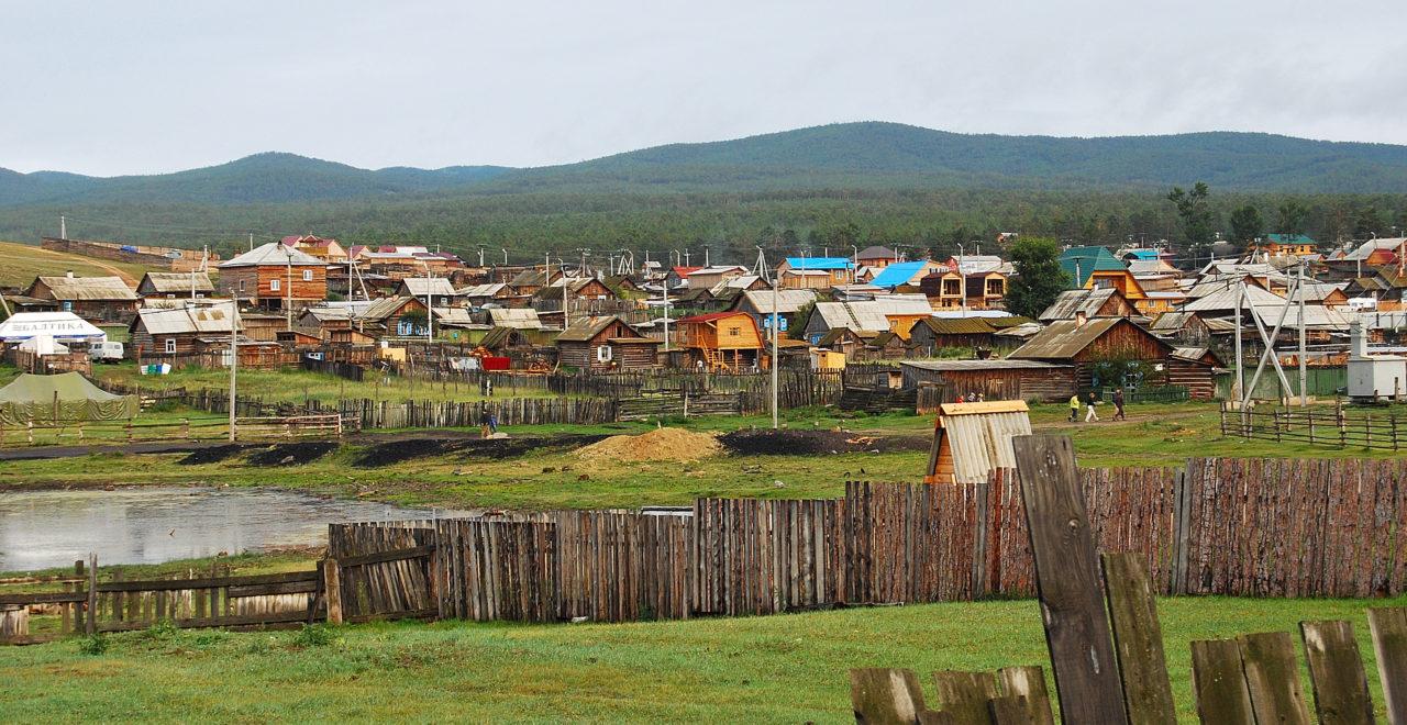 Khuzhir village, Bajkalsjøen, Russland