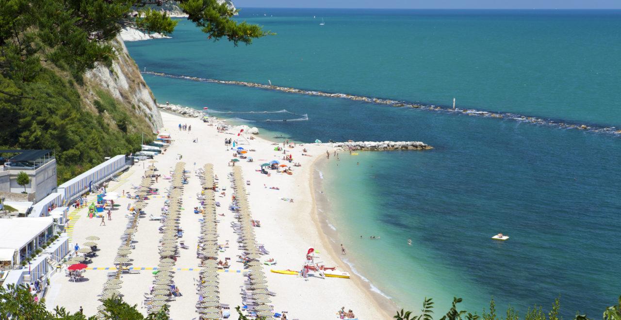 sirolo strand, Marche, Italia