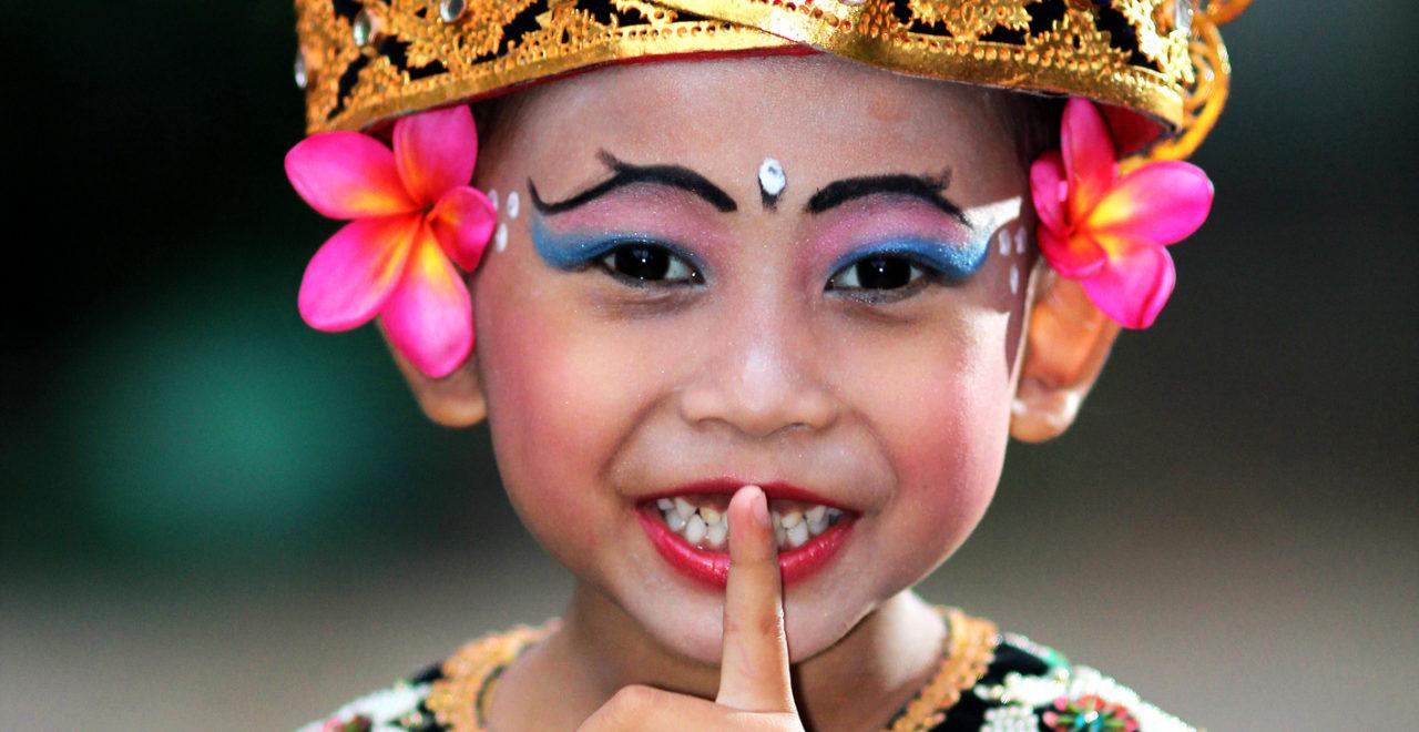 Indonesia Bali balinesisk danser barn