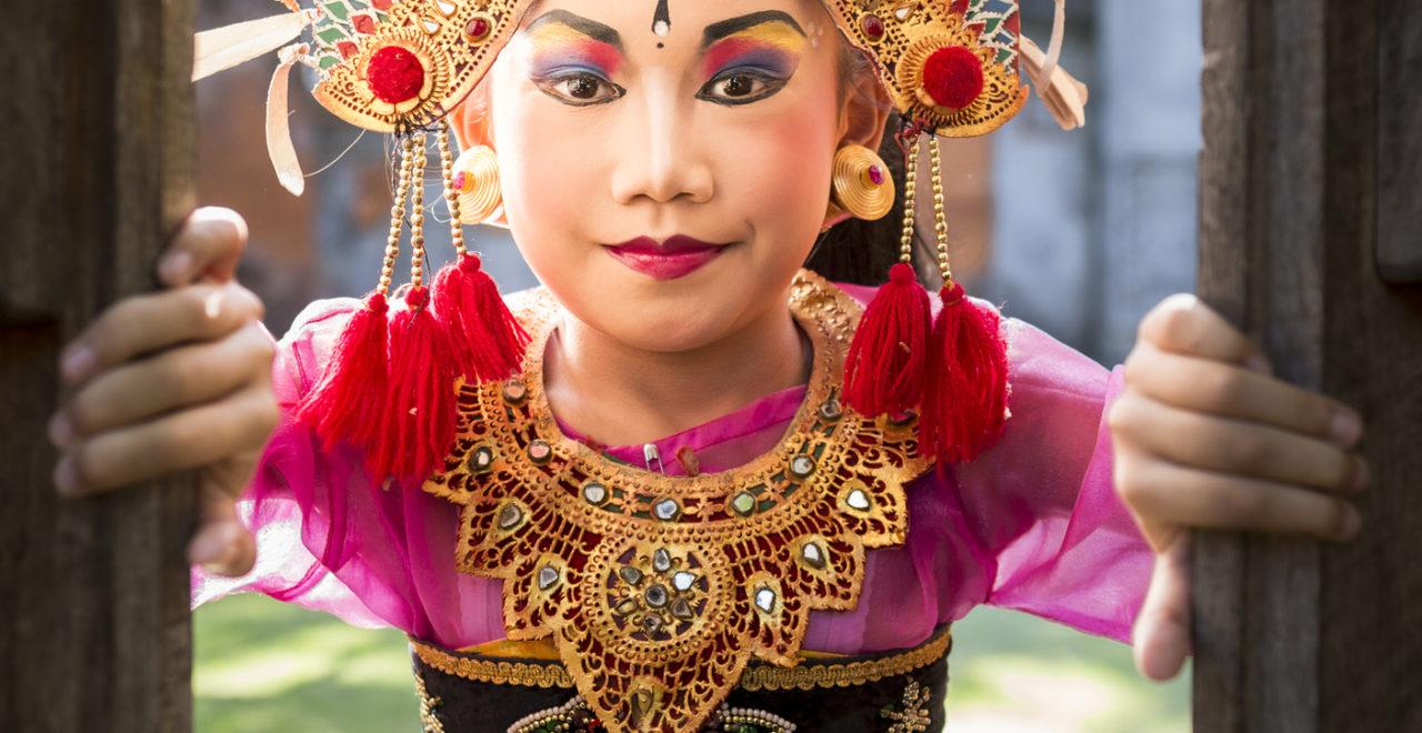 Indonesia Bali barn tempel