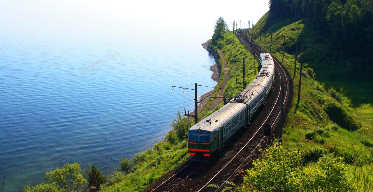 Bajkalsjøen, tog, jernbane, Russland