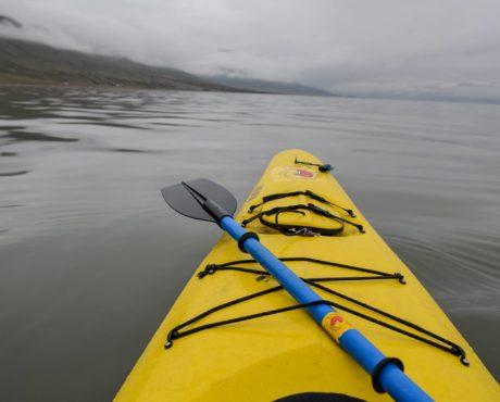kajakk Adventfjorden Svalbard