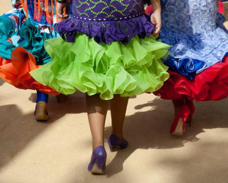Flamenko, kjoler, Spania, Andalucia