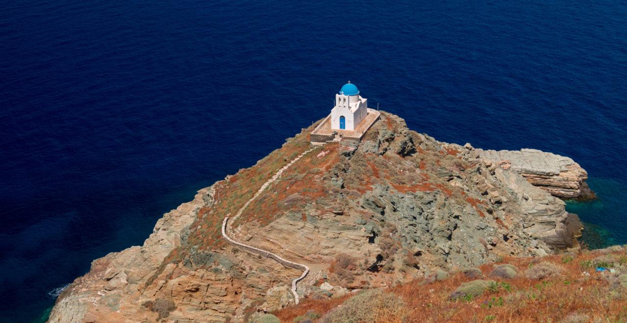 The Church of Seven Martyrs, Sifnos, Kykladene, Hellas