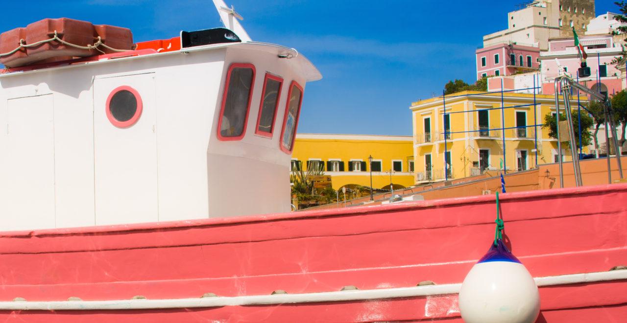 Italia, Lazio, Ponza, harbor, båt