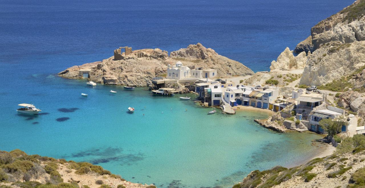 Firopotamos strand Milos Kykladene Hellas
