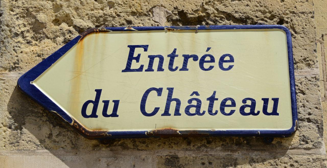 Chateau skilt Frankrike