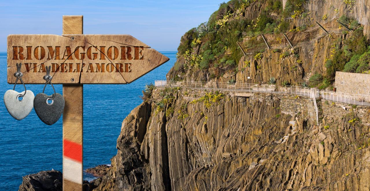 vandring, Riomaggiore, Cinque Terre, Liguria, Itaila
