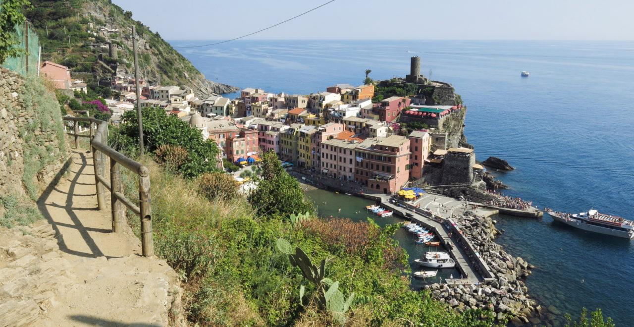 Vernazza, Cinque Terre, vandring, Italia, Liguria