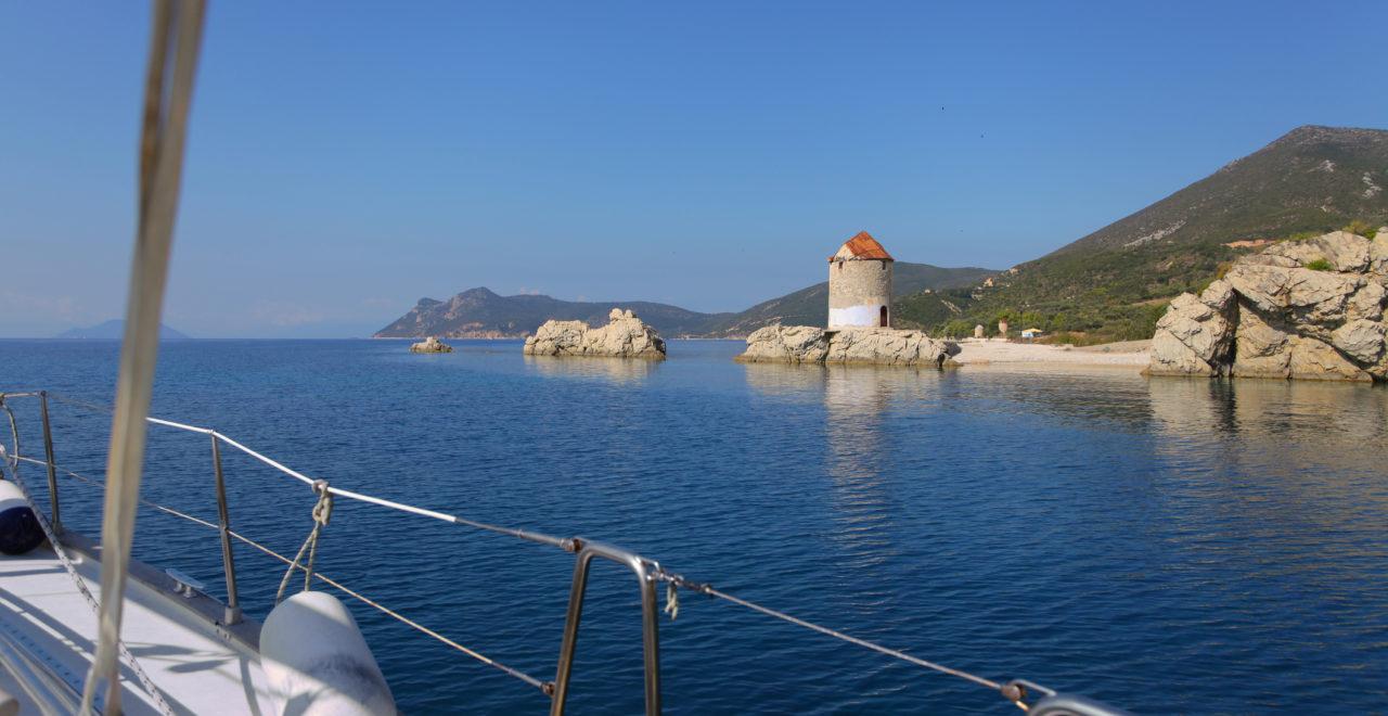 Seiling, cruise, ioniske øyer, hellas, Kefalonia, Ithaka