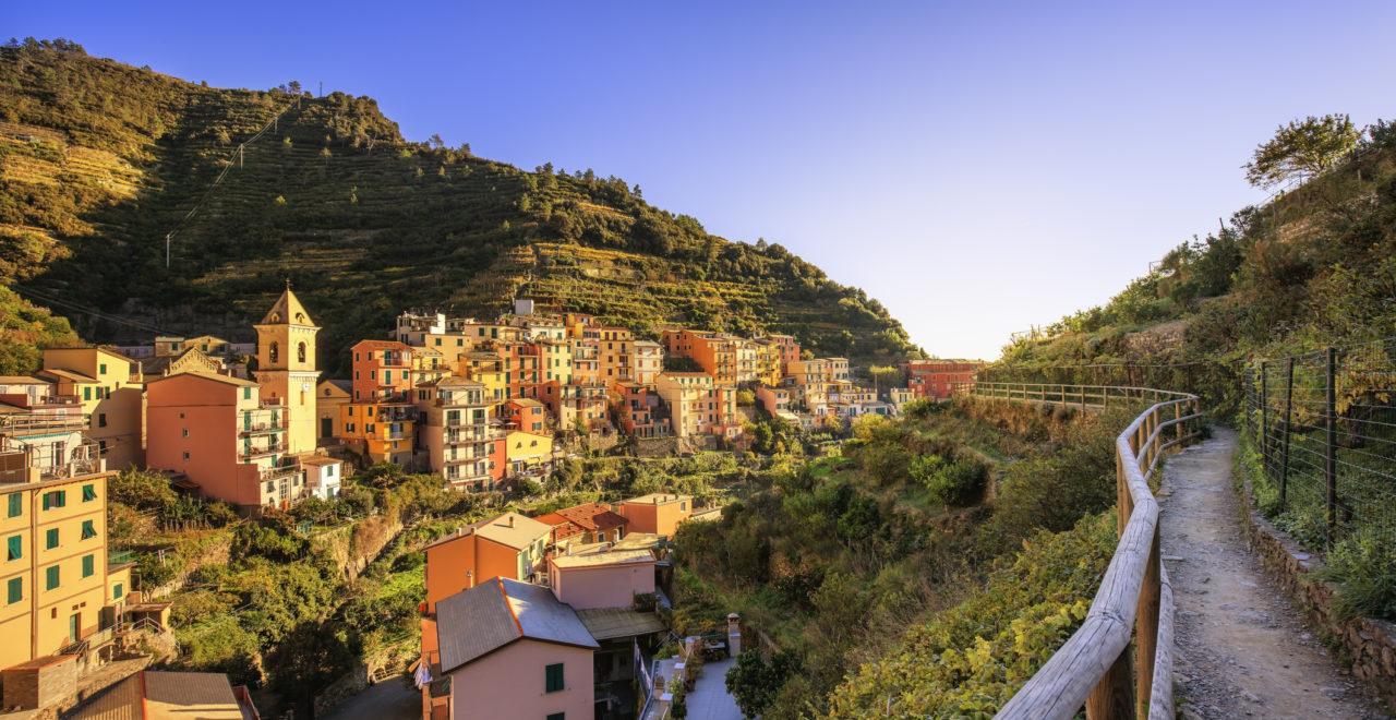 Manarola, vandring, Cinque Terre, Italia, Liguria