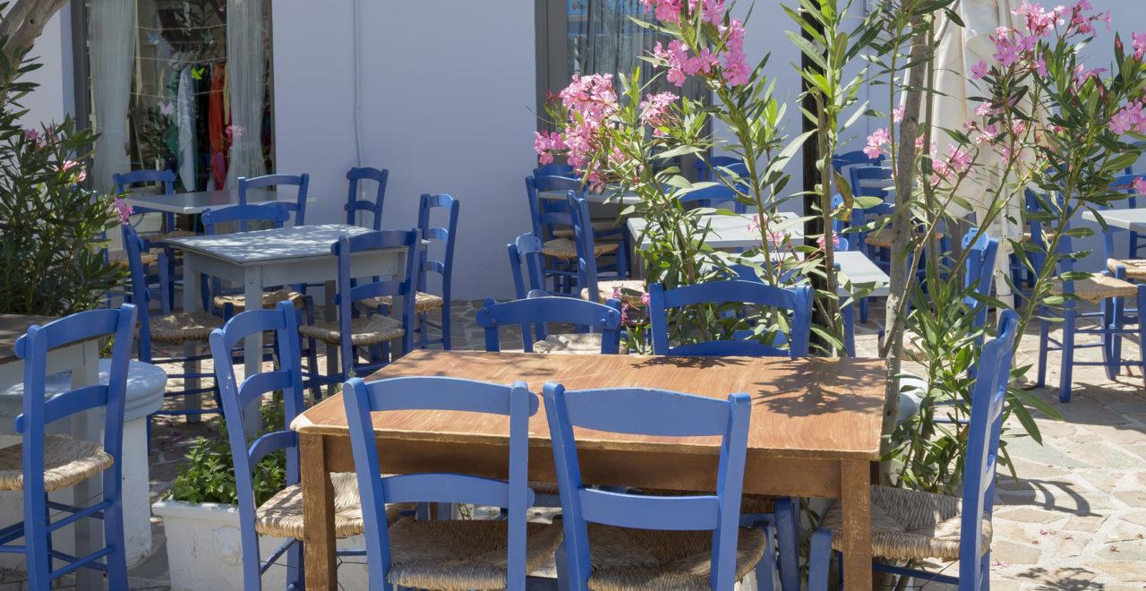 Gresk taverna, restaurant, Hellas, Ithaka