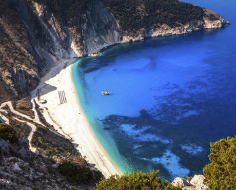 Myrtos Beach, Kefalonia, Hellas