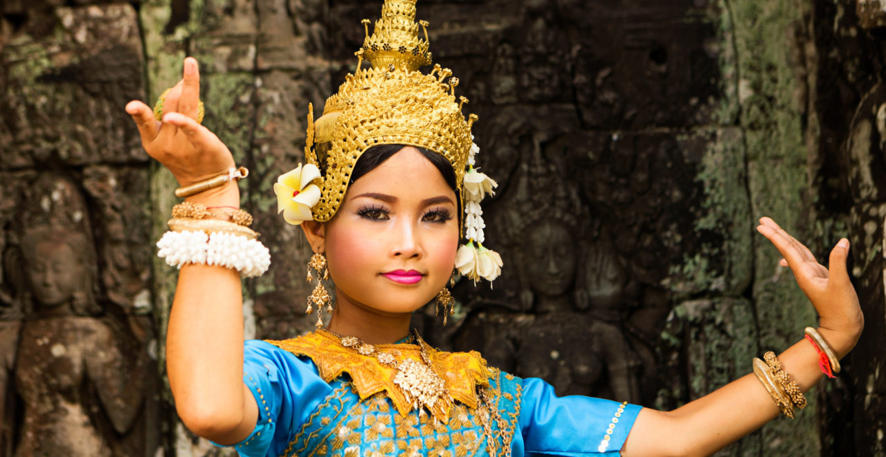 Apsara-danser, Angkor Wat, Siem Reap, Kambodsja