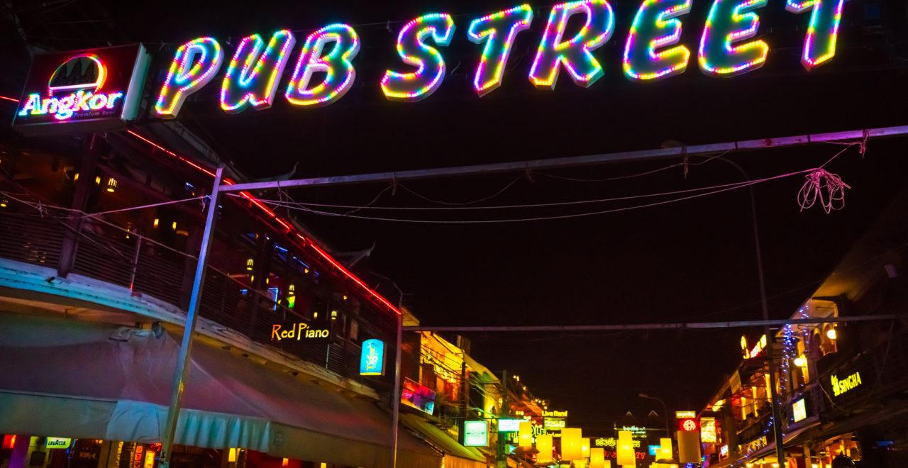 Pub Street Siem Reap Kambodsja
