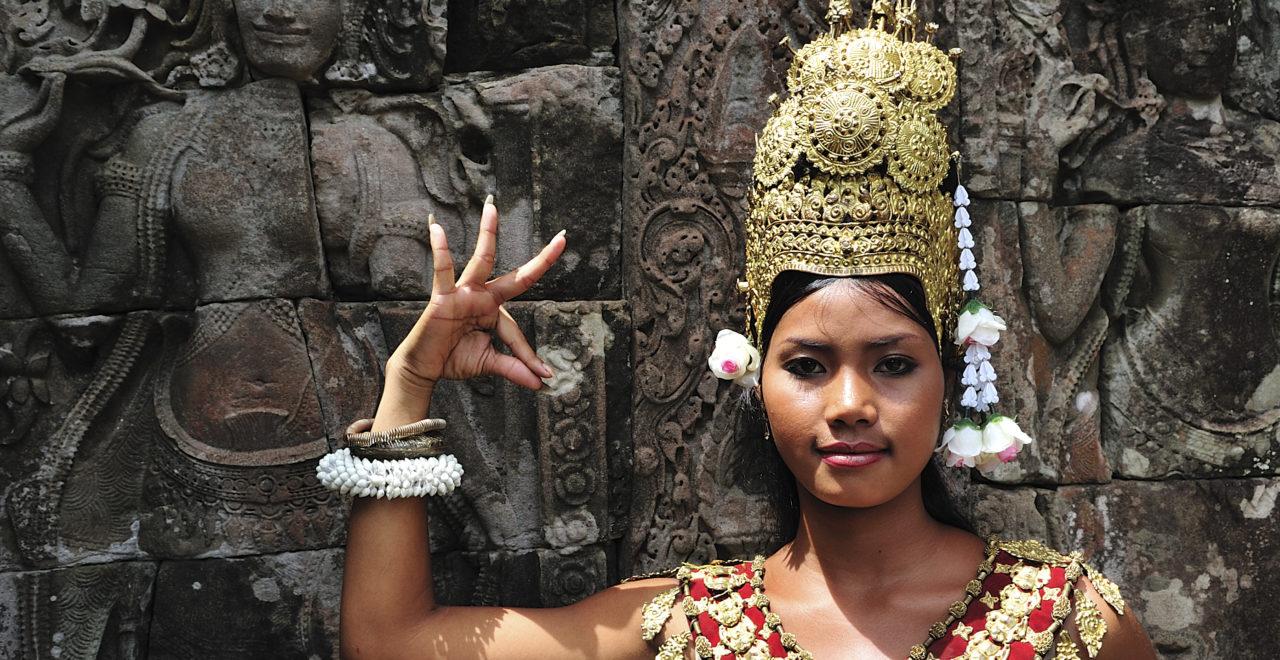 Kambodsja, aspara-danser, BAYON, tempel, Angkor Wat, Siem Reap