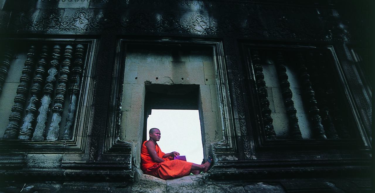 Angkor Wat, munk, Siem Reap, Kambodsja