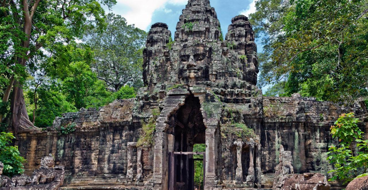 Inngang, Angkor Wat, Siem Reap, Kambodsja