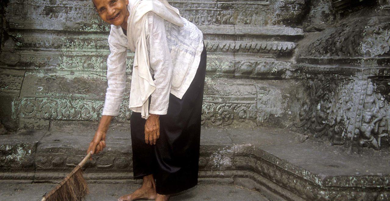 ta prohm, nonne, Siem Reap, Kambodsja