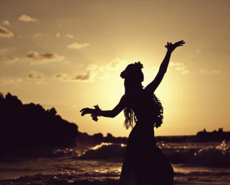 Traditional Hawaiian Dance, Luau, hula, Hawaii, USA, dans