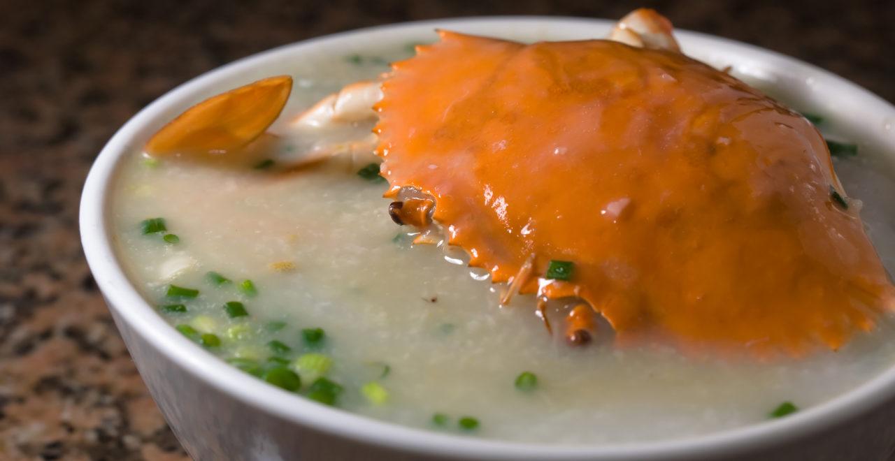 Crab Congee, mat, Kina, Hong Kong, Macao