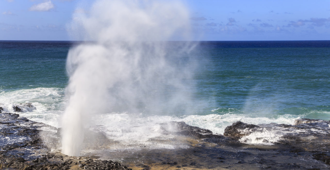 Spouting Horn blow hole, Kauai, Hawaii, USA