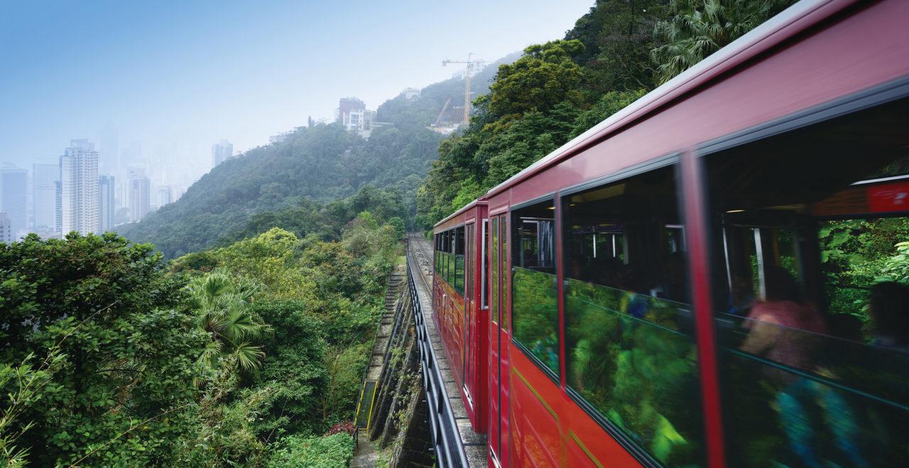 Peak tram in the victoria peak, Hong Kon, Kina