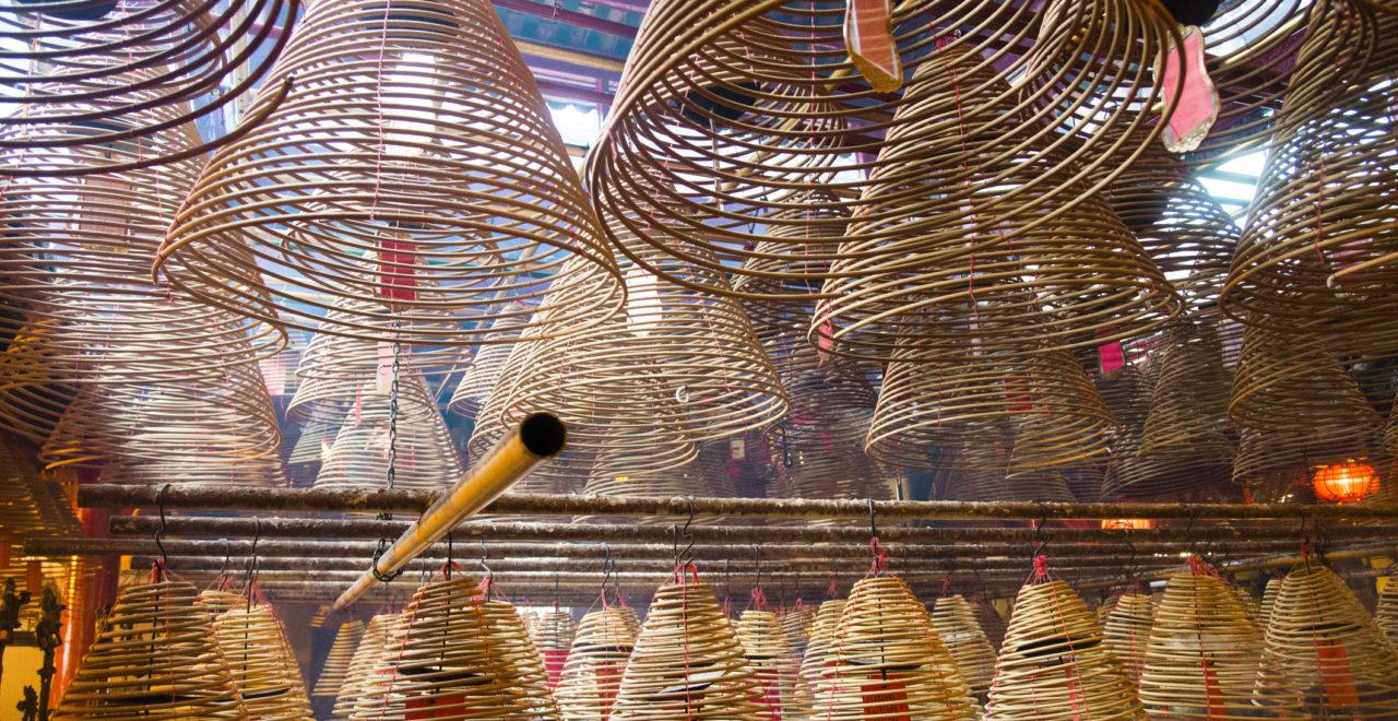 Incense Cones in Chinese Temple, Kina, Hong Hong