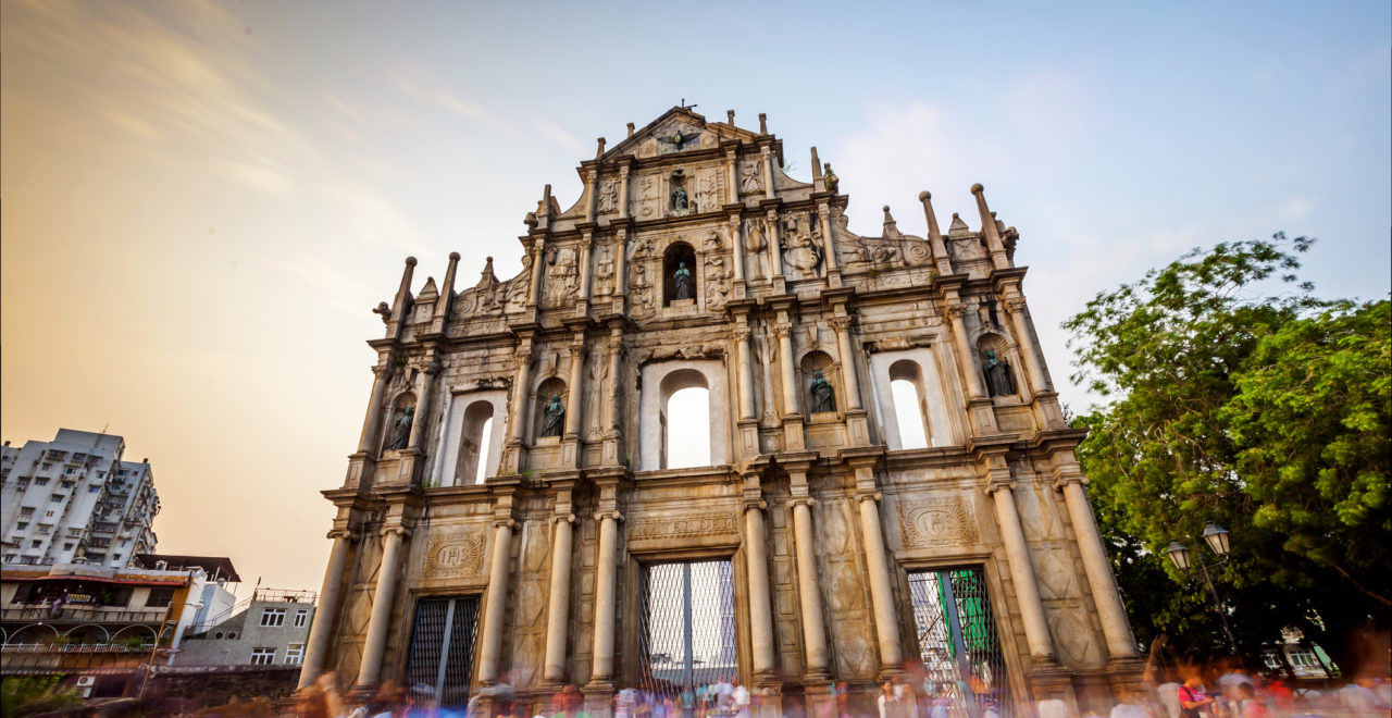 ruins of st paul's, Macao, Kina