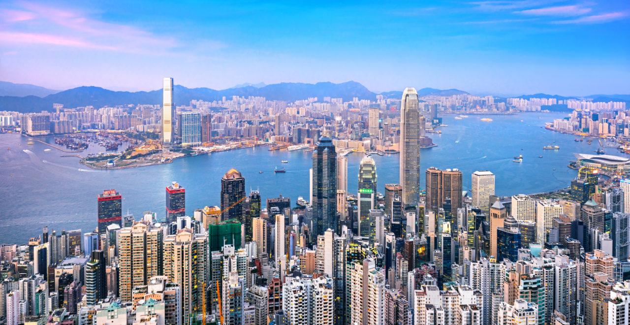 Hong Kong skyline at Twilight, Kina